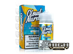 Peach Blue Razz by Cloud Nurdz 100ml - High Society Supply