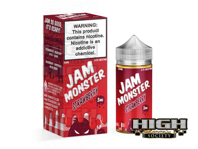 Strawberry by Jam Monster 100ml - High Society Supply