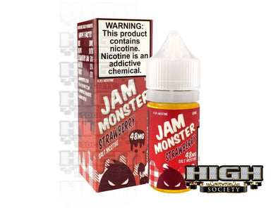 Strawberry by Jam Monster Salt Nicotine 30ml - High Society Supply
