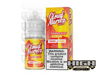 Strawberry Lemon by Cloud Nurdz Salt 30ml - High Society Supply