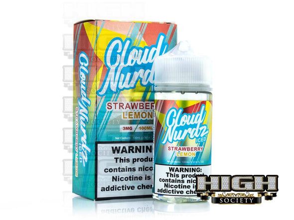 Strawberry Lemon Iced by Cloud Nurdz 100ml - High Society Supply