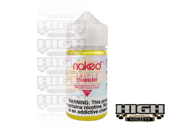 Triple Strawberry by Naked 100 Fusion 60ml - High Society Supply