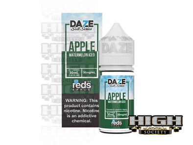 Reds Watermelon Iced Salt by 7 Daze Salt Series 30ml - High Society Supply
