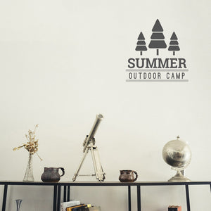 Summer Outdoor Camp | Wall Decal | Wall Art | Adnil Creations