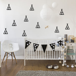 Set of 50 Teepee Wall Stickers | 2 sizes available to choose from