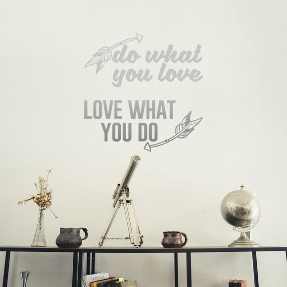 Do what you love, love what you do | Wall Quote | Wall Quote | Adnil Creations