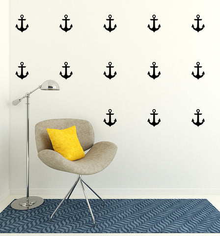 Set of 50 Anchor Wall Stickers | 3 sizes available to choose from