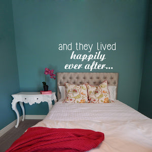 And they lived happily ever after... | Wall Quote | Wall Quote | Adnil Creations