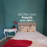 And they lived happily ever after... | Wall Decal