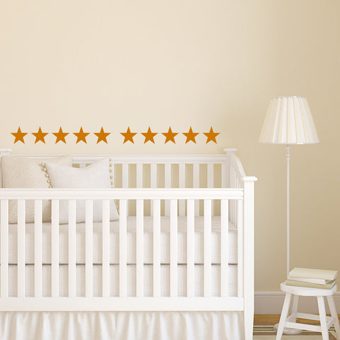 Set of 50 Stars Wall Stickers - 3 sizes available to choose from