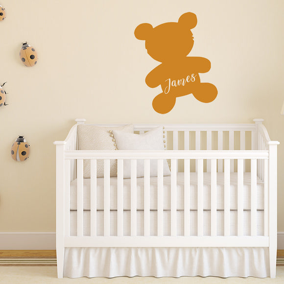 Teddy bear with name | Monogram Decal