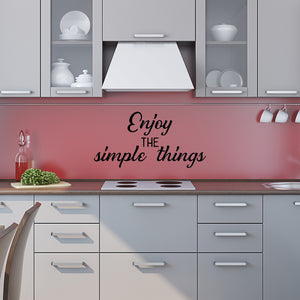 Enjoy the simple things | Wall Quote | Wall Quote | Adnil Creations