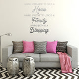 Home Family Blessing | Wall Decal