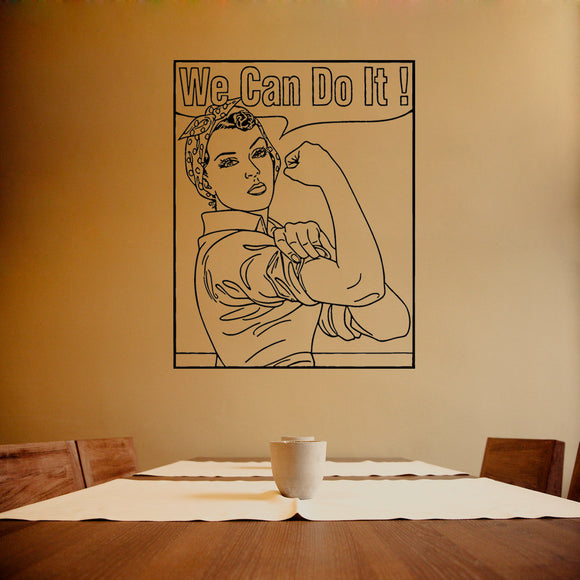 Rosie the Riveter - We can do it  | Wall Decal | Wall Art | Adnil Creations