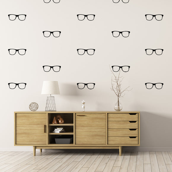 Set of 50 Hipster Glasses Wall Stickers | 3 sizes available to choose from | Repeating Pattern | Adnil Creations