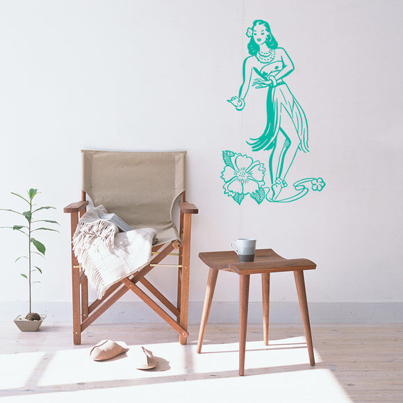 Hawaiian hula girl | Wall Decal | Wall Art | Adnil Creations