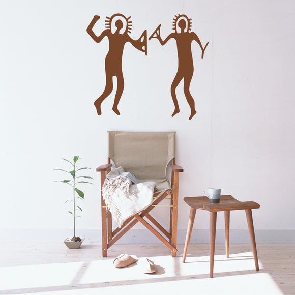 Ancient Alien Cave Drawings | Wall Decal | Wall Art | Adnil Creations