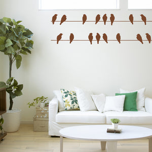 Birds on wires | Wall Decal | Wall Art | Adnil Creations