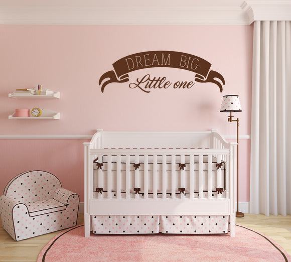 Dream big little one | Wall Quote | Wall Quote | Adnil Creations