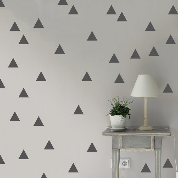 Set of 50 Triangle Wall Stickers | 5 sizes available to choose from | Repeating Pattern | Adnil Creations
