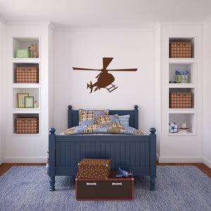 Helicopter | Wall Decal | Wall Art | Adnil Creations