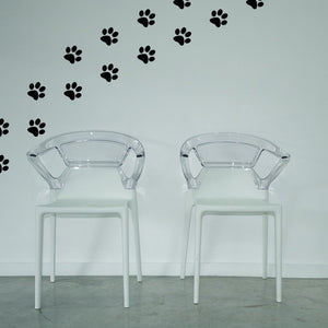 Set of 50 Paw Prints Wall Stickers | 3 sizes available to choose from