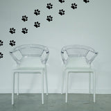 Set of 50 Paw Prints Wall Stickers - 4 sizes available to choose from - Repeating Pattern - Adnil Creations