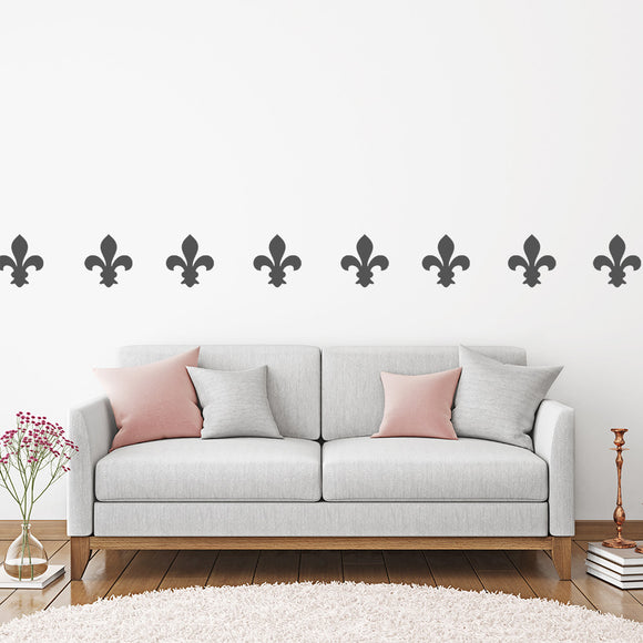Set of 50 Fleur De Lis Wall Stickers | 5 sizes available to choose from | Repeating Pattern | Adnil Creations