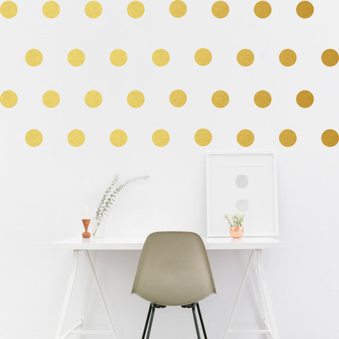 Set of 50 Polka Dot Wall Stickers - 3 sizes available to choose from