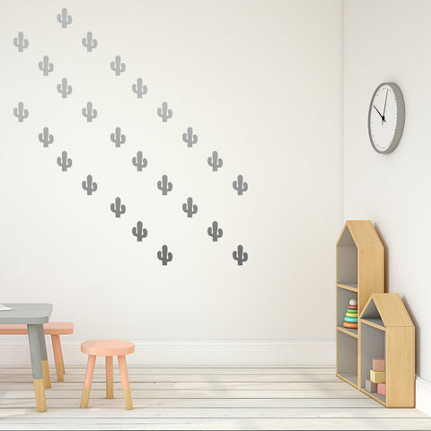 Set of 50 Cactus Wall Stickers - 3 sizes available to choose from