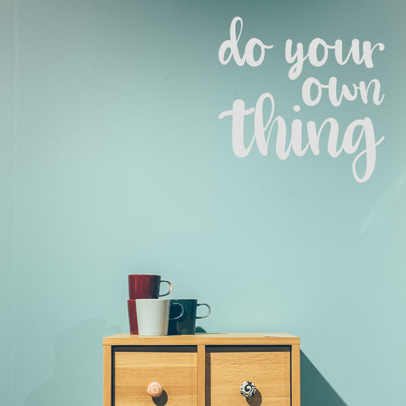 Do your own thing | Wall Quote | Wall Quote | Adnil Creations