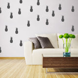 Set of 50 Pineapple Wall Stickers | 4 sizes available to choose from | Repeating Pattern | Adnil Creations