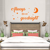 Always kiss me goodnight | Wall Quote | Wall Quote | Adnil Creations