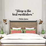 Sleep is the best meditation | Wall Decal