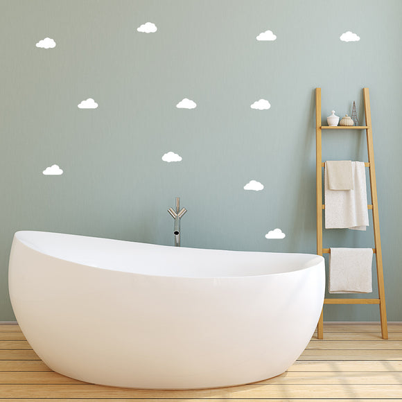 Set of 50 Little Fluffy Cloud Wall Stickers | 4 sizes available to choose from - Adnil Creations