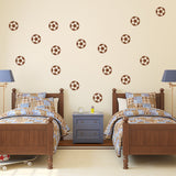Set of 50 Footballs Wall Stickers - 2 sizes available to choose from
