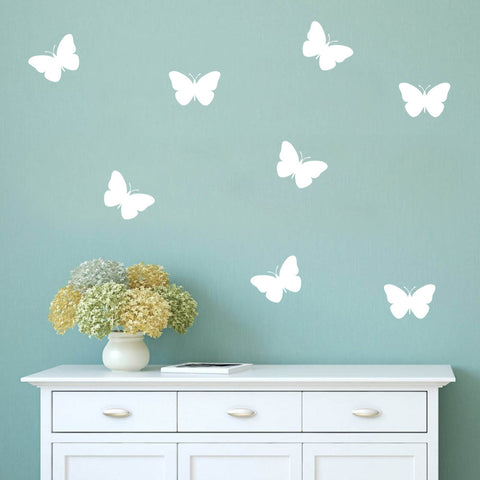 Set of 50 Butterflies Wall Stickers - 3 sizes available to choose from