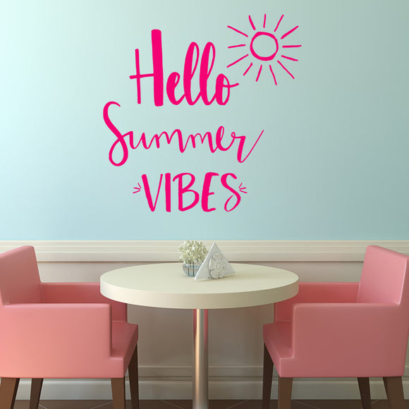 Hello summer vibes | Wall Quote | Wall Quote | Adnil Creations