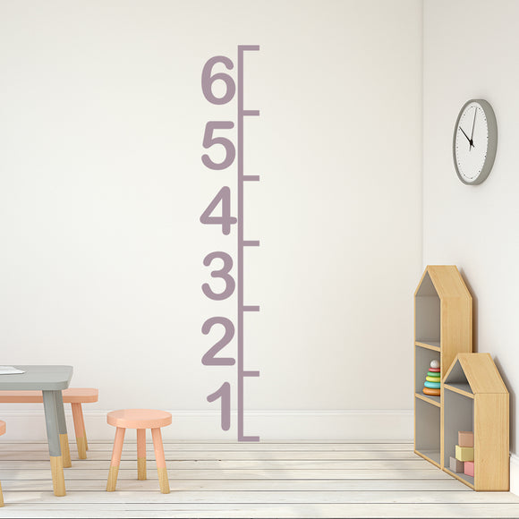 6ft Simple Numbers Height Chart | Wall Decal | Height Chart | Adnil Creations