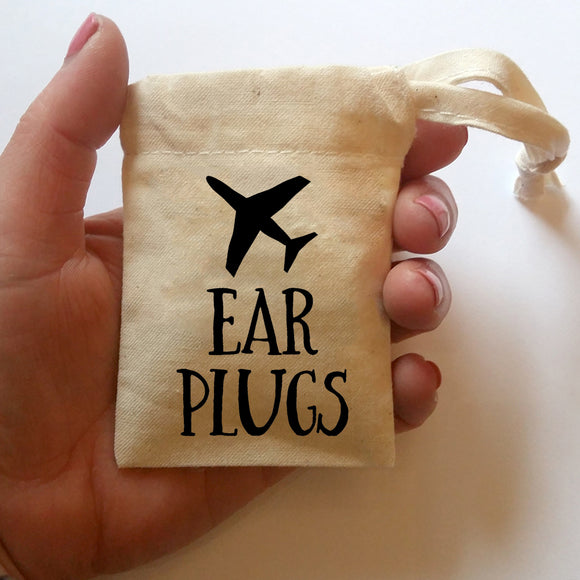 Ear Plugs Bag | Small Cotton Drawstring Bag | Tiny Bags | Adnil Creations