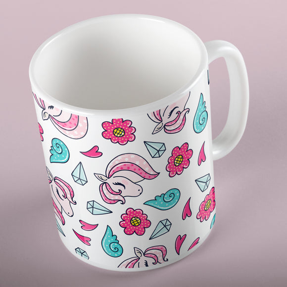 Unicorns and diamonds | Mug | Mug | Adnil Creations