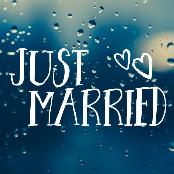 Just Married | Bumper Sticker | Bumper Sticker | Adnil Creations