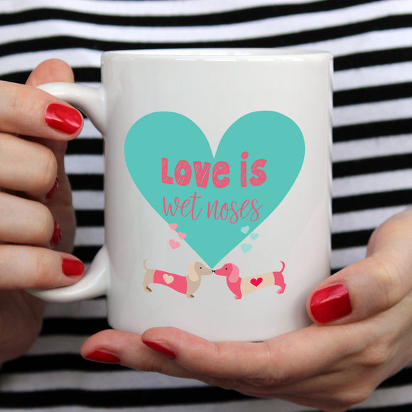 Love is wet noses | Mug | Mug | Adnil Creations