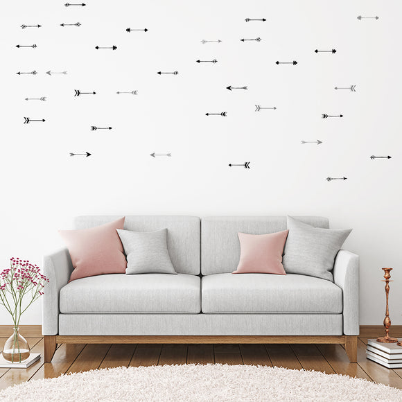 Set of 50 Arrow Wall Stickers | 2 sizes available to choose from | Repeating Pattern | Adnil Creations