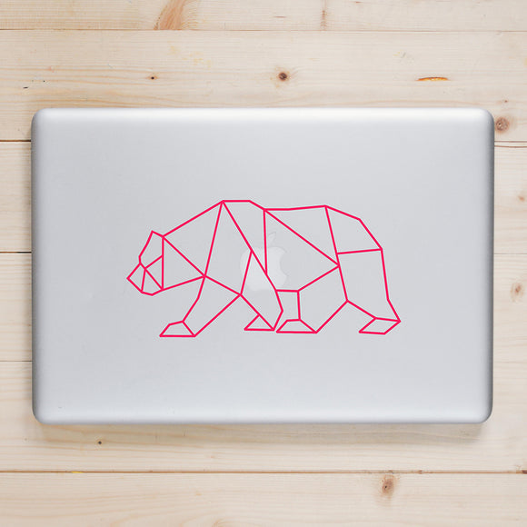 Geometric Bear | Laptop Decal | Macbook Decal | Adnil Creations