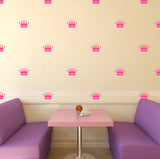Set of 50 Crowns Wall Stickers | 2 sizes available to choose from