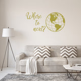 Where to next? | Wall Quote | Wall Quote | Adnil Creations