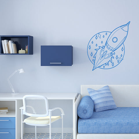 Set of 50 Planet Wall Stickers - 2 sizes available to choose from