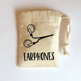 Earphones Bag | Small Cotton Drawstring Bag | Tiny Bags | Adnil Creations