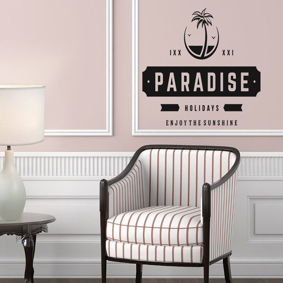 Paradise holidays | Wall Decal | Wall Art | Adnil Creations